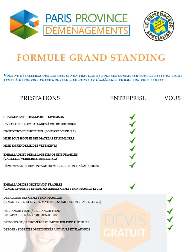 formule grand standing