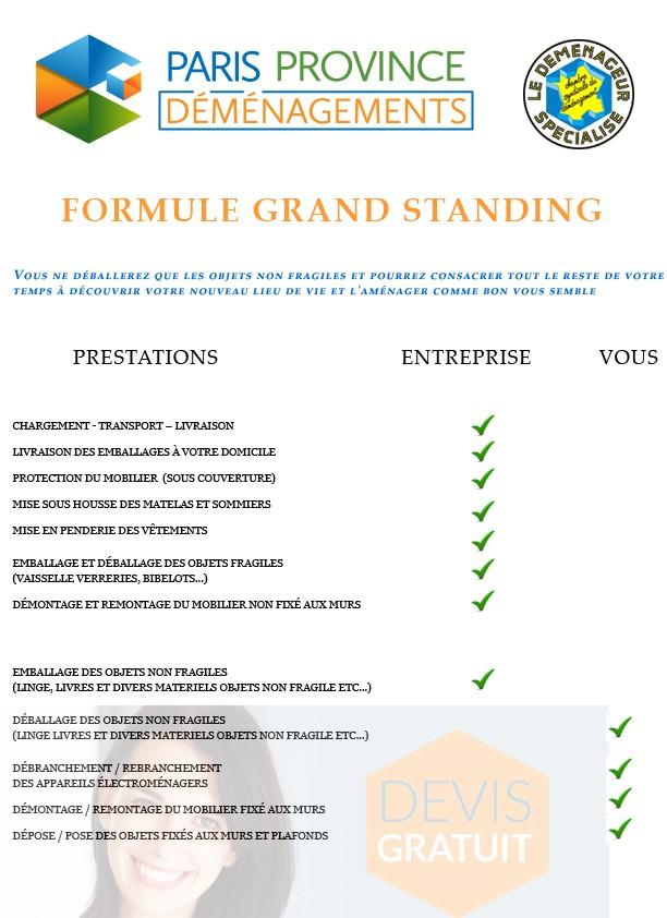 formule grand standing